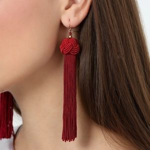 Jewelry - 🎁 Deep Red Tassel Earrings